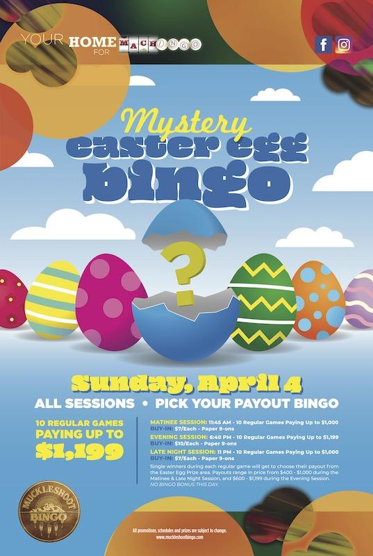 Mystery Egg Easter Bingo
