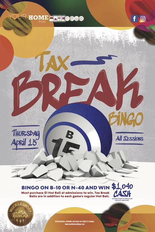 Tax Break Bingo