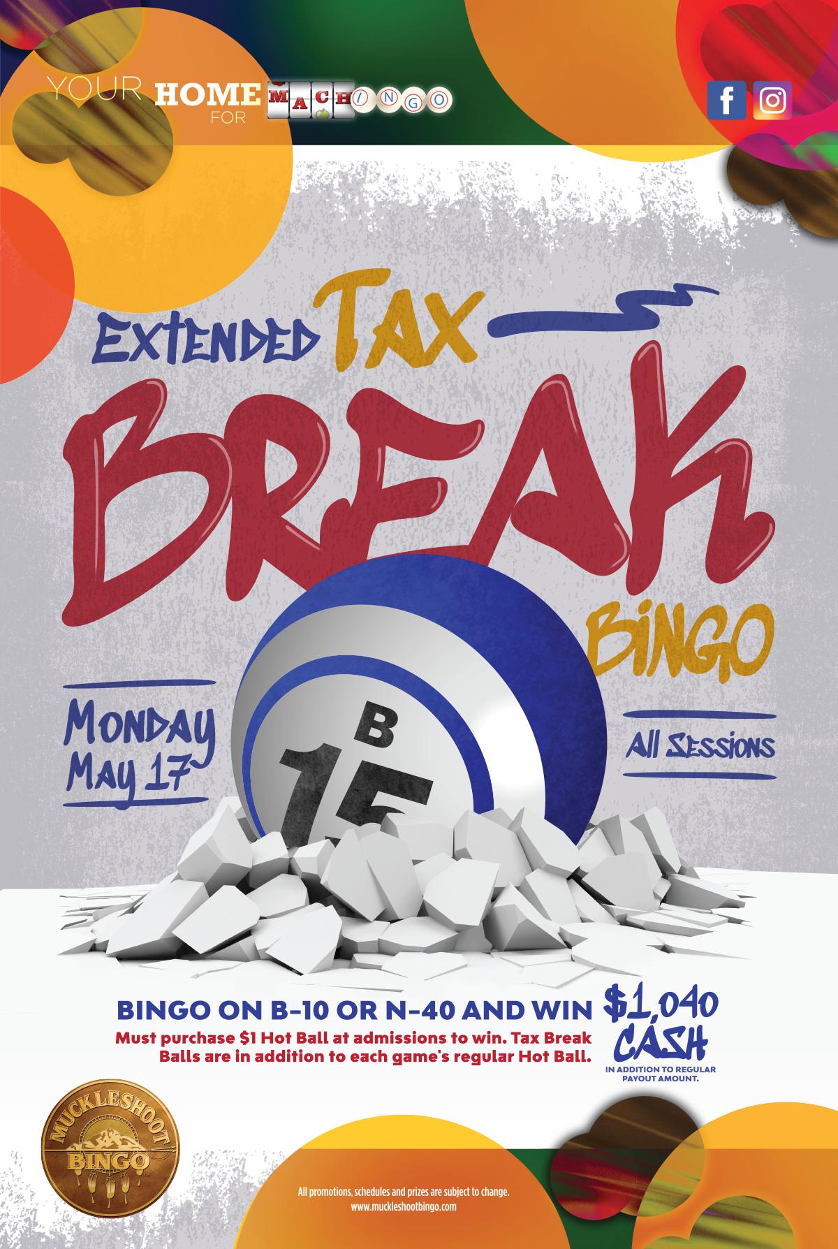 EXTENDED Tax Break Bingo
