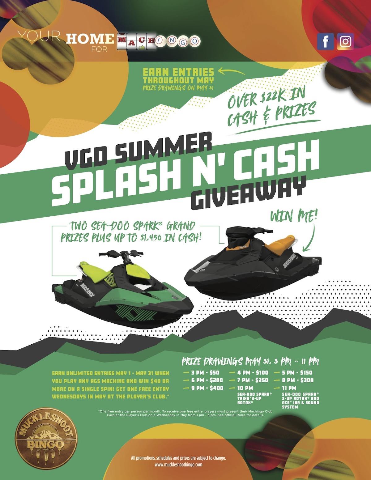 VGD Summer Splash n' Cash Giveaway