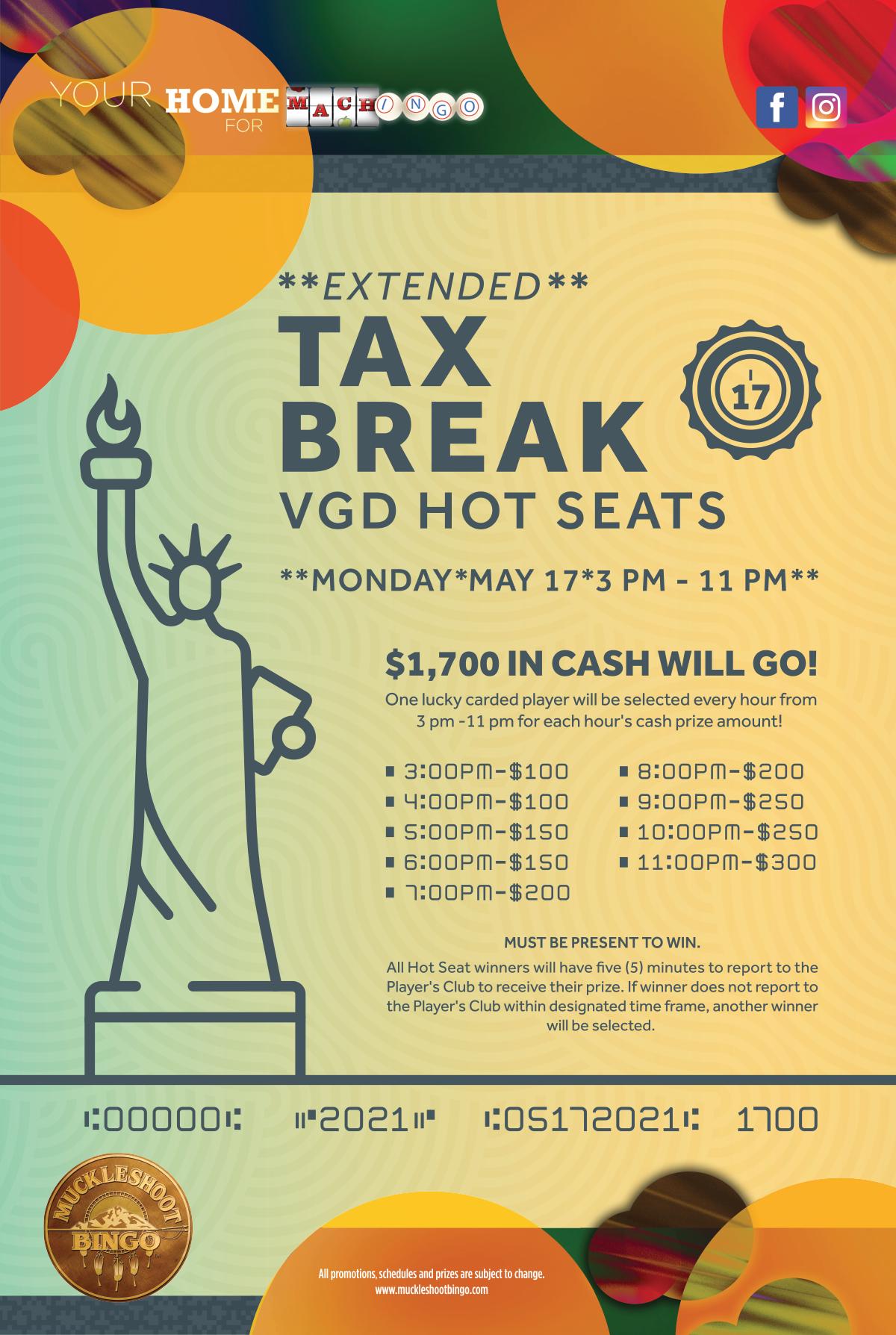 EXTENDED Tax Break VGD Hot Seats