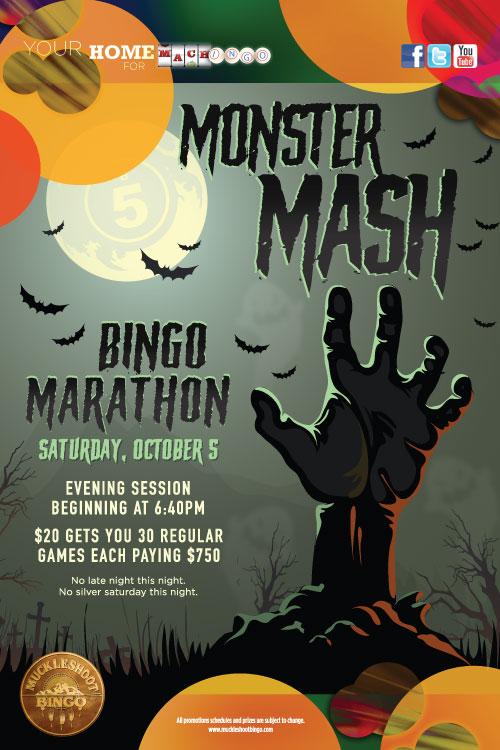 """Monster Mash"" 30 Game Bingo Marathon– Saturday October 10"