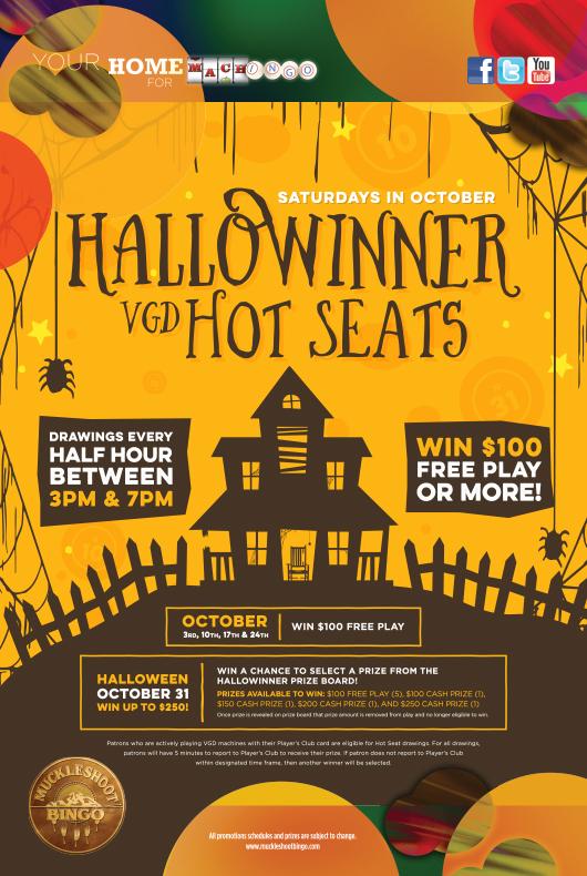 """HALLOWINNER"" HOT SEAT DRAWINGS – OCTOBER 31"